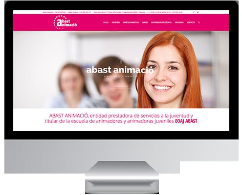 Desarrollo Web - Página Corporativa desarrollada en Wordpress para Abast Animaciò