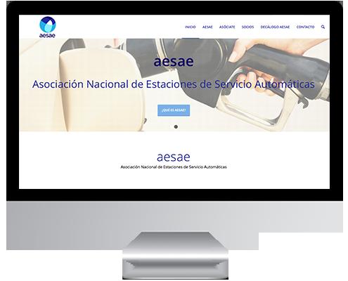 Desarrollo Web - Página Corporativa desarrollada en Wordpress para AESAE Asociación Nacional de Estaciones de Servicio Automáticas