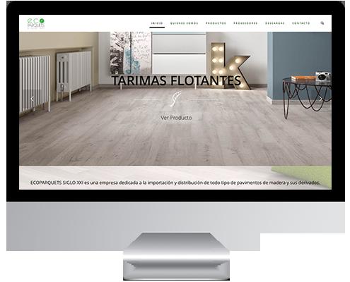 Desarrollo Web Web Catálogo en Wordpress para Ecoparquets