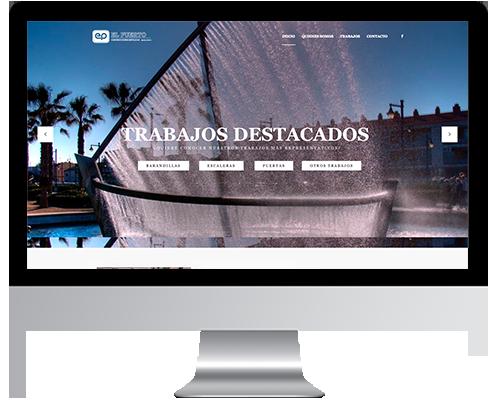 Desarrollo Web - Página Corporativa y Portfolio desarrollada en Wordpress para Construcciones El Puerto