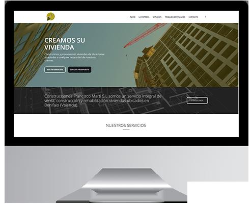 Desarrollo Web - Página Corporativa y Portfolio desarrollada en Wordpress para Construcciones Francisco Martí