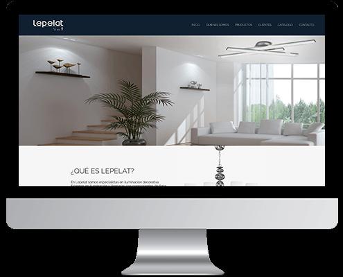 Desarrollo Web - Página Corporativa, Catálogo online y intranet desarrollada en Wordpress para Lepelat Iluminación