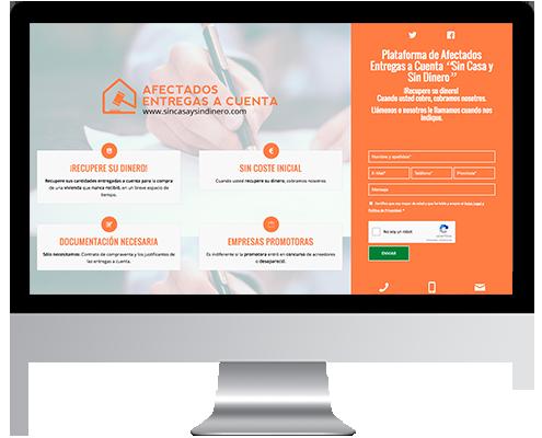 Página Web Corporativa desarrollada en Wordpress para Sin casa y sin dinero