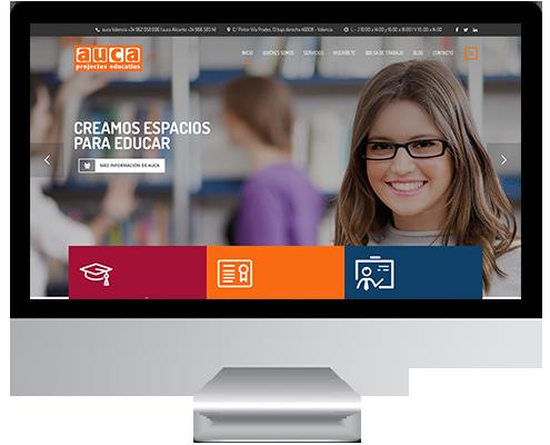 Desarrollo Web - Página Corporativa y Catálogo de actividades extraescolares desarrollada en Wordpress para Auca Projectes Educatius