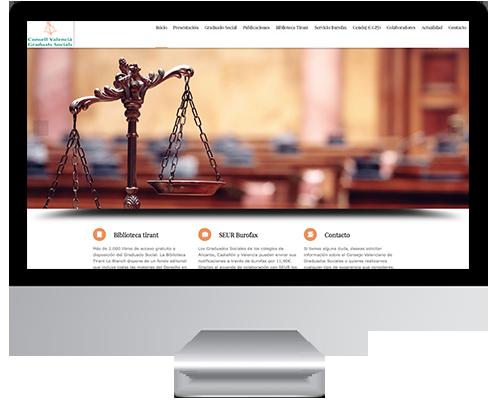 Desarrollo Web - Página Corporativa desarrollada en Wordpress para el Consejo de Graduados Sociales de Valencia