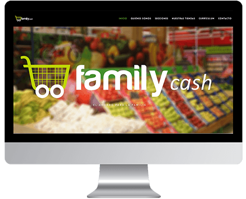 Desarrollo Web - Página Corporativa desarrollada en Wordpress para Supermercados Family Cash