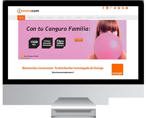 Desarrollo Web - Página Corporativa desarrollada en Wordpress para Grupo Innovacom