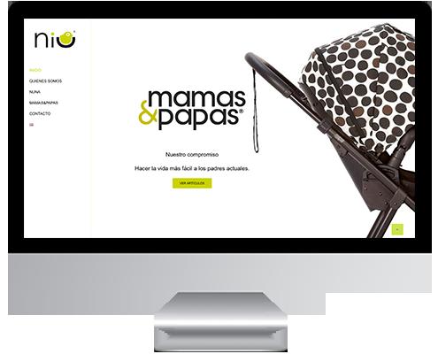 Desarrollo Web - Página Corporativa, Catálogo online desarrollada en Wordpress para Niu Concept