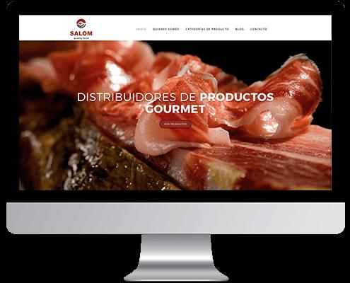 Desarrollo Web - Página Corporativa y Catálogo online desarrollada en Wordpress para Distribuciones Salom