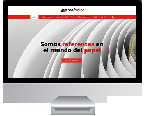 Desarrollo Web - Página Corporativa y Catálogo Online desarrollada en Wordpress para Servicolor Iberia
