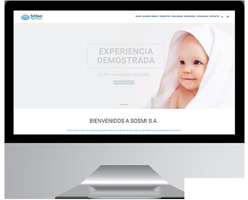 Desarrollo Web - Página Corporativa, Catálogo Online y Intranet desarrollada en Wordpress para Grupo Sosmi