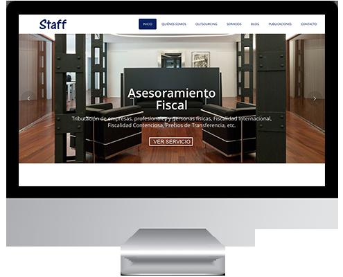 Desarrollo Web - Página Corporativa desarrollada en Wordpress para Staff Asesores