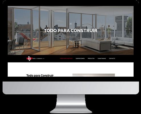 Desarrollo Web - Página Corporativa, Catálogo online y Portfolio desarrollada en Wordpress para Totpercons - Todo para Construir