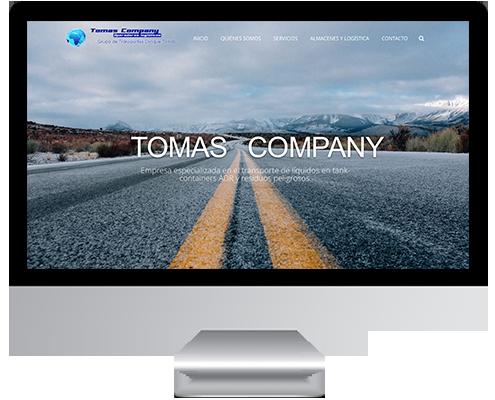 Desarrollo Web - Página Corporativa desarrollada en Wordpress para Transportes Tomas Company