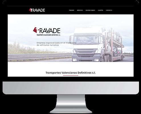 Desarrollo Web - Página Corporativa desarrollada en Wordpress para Transportes Travade