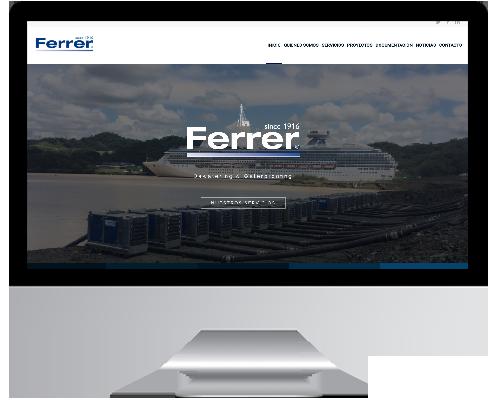 Desarrollo Web - Página Corporativa, Catálogo online desarrollada en Wordpress para Ferrer S.L.