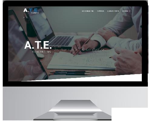 Desarrollo Web - Página Corporativa desarrollada en Wordpress para A.T.E Consulting