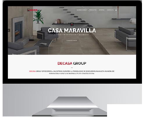 Desarrollo Web - Página Corporativa, Catálogo online y intranet desarrollada en Wordpress para Casa Maravilla