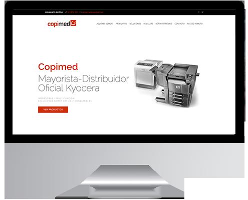 Desarrollo Web - Página Corporativa, Catálogo online desarrollada en Wordpress para Copimed