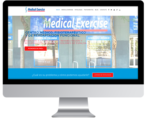 Desarrollo Web - Página Corporativa desarrollada en Wordpress para Medical Exercise