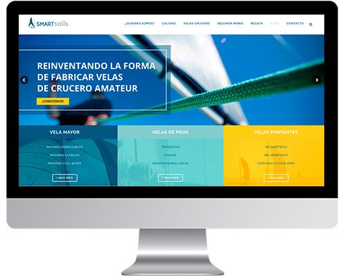 Desarrollo Web - Página Corporativa desarrollada en Wordpress para Smartsails
