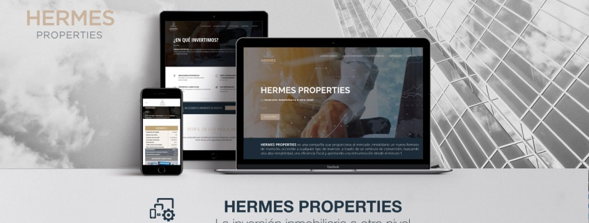 Desarrollo Web - Página Corporativa desarrollada en Wordpress para Hermes Properties