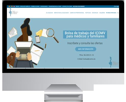 desarrollo web colegio oficial de medicos de valencia