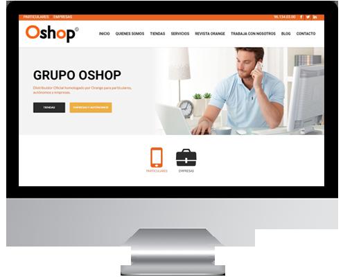 desarrollo web grupo oshop
