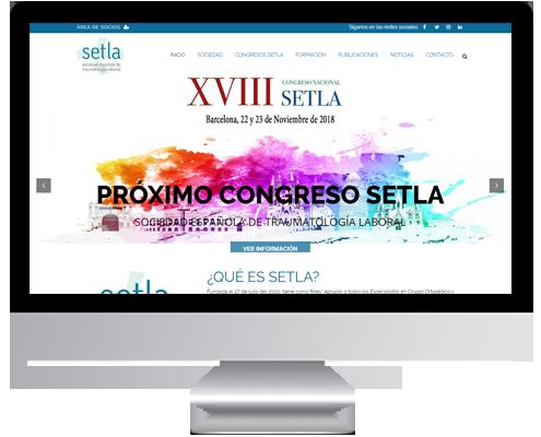 desarrollo web sociedad española de traumatologia laboral